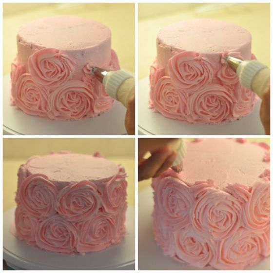 How to make a Rosette Iced Cake