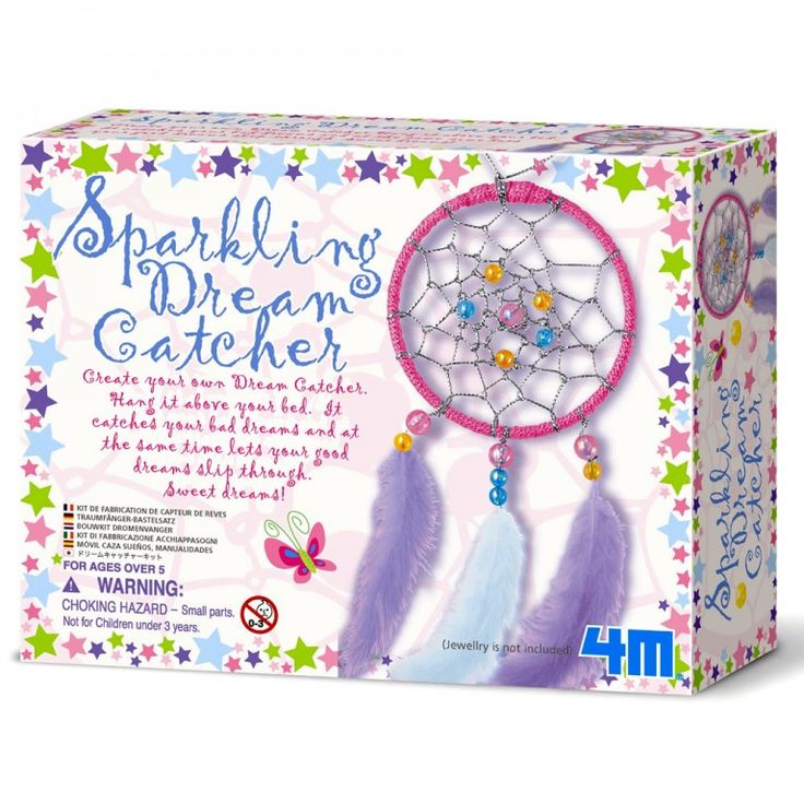 A creative 8 year old girl will love this Make A Sparkling Dream Catcher kit. It's a super gift!