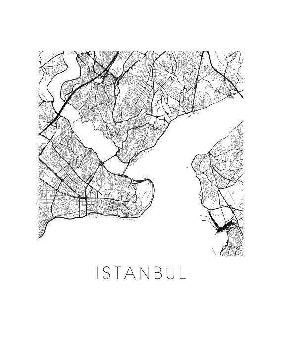 Istanbul Map Print - 11x14