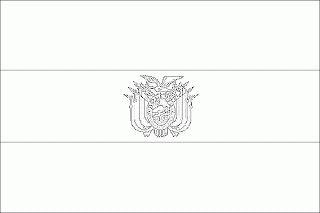 LAMINAS PARA COLOREAR - COLORING PAGES: Mapa y Bandera de Bolivia para dibujar pintar colorear imprimir recortar y pegar