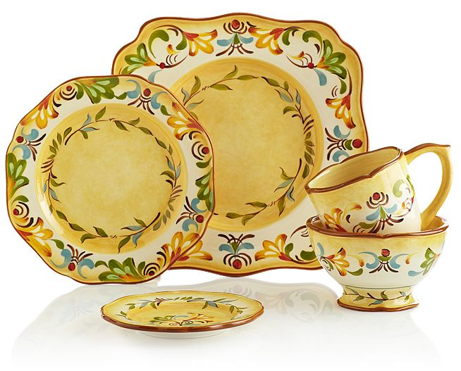 Take a virtual trip to the Italian countryside with Pier 1 Bellanina Dinnerware