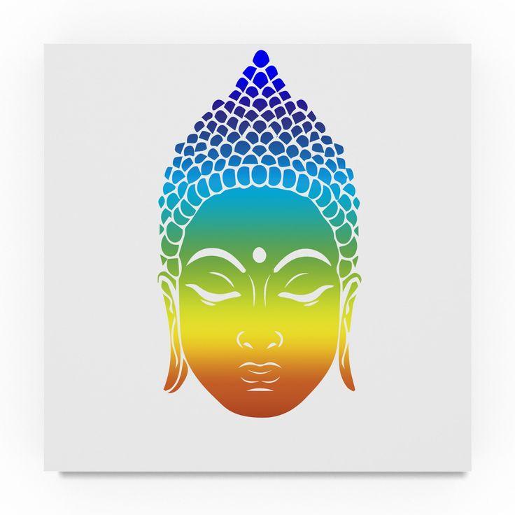 Lightboxjournal 'Rainbow Buddha' Canvas Art