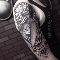 Chef's Knife Shoulder tattoo