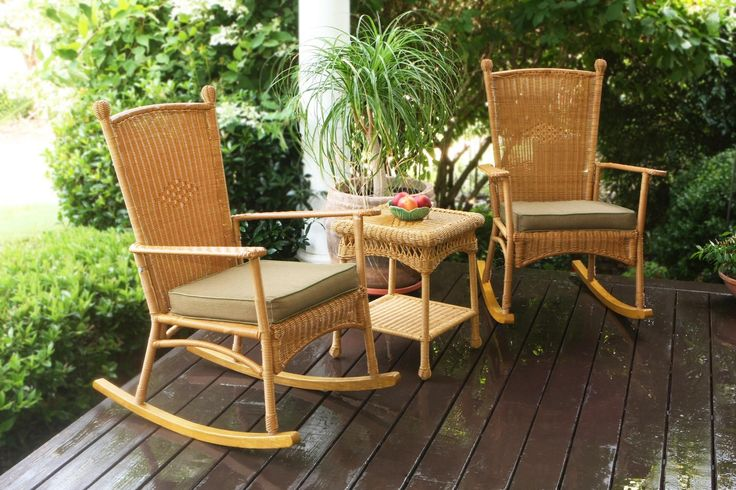 Tortuga Outdoor PSR2-C-WH Rocking Chair. The Portside Collection - An attractive, affordable and comfortable wicker furniture seating set with many complementary wicker furniture pieces. All furniture pieces feature powder coated steel frames hand woven with all-weather resin wicker. The Cushion dimensions are universal.