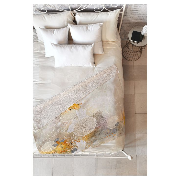 The Iveta Abolina White Velvet Sherpa Throw Blanket by Deny Designs may be the softest blanket ever! Featuring a printed plush silky smooth top side with a fuzzy warm underside, it's the perfect blanket to snuggle up with on the couch, bed, and anywhere in between! This Iveta Abolina White Velvet Sherpa Throw Blanket by Deny Designs is sure to be the talk of company with artwork provided by one of Deny Designs select artists. With each purchase of a Deny Designs product a portion of all s...
