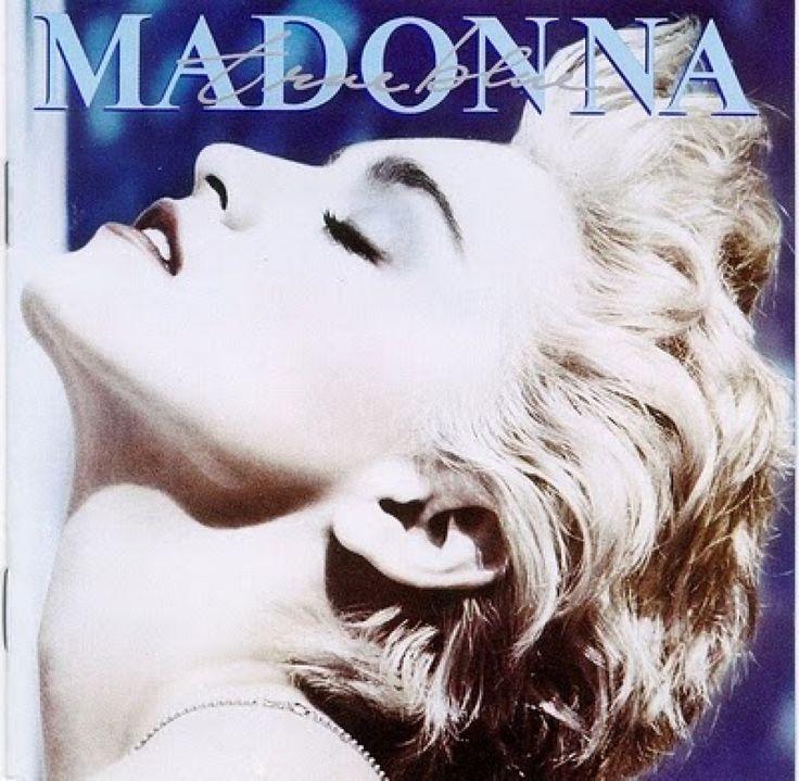 Portada del disco 'True blue' de Madonna, 1986