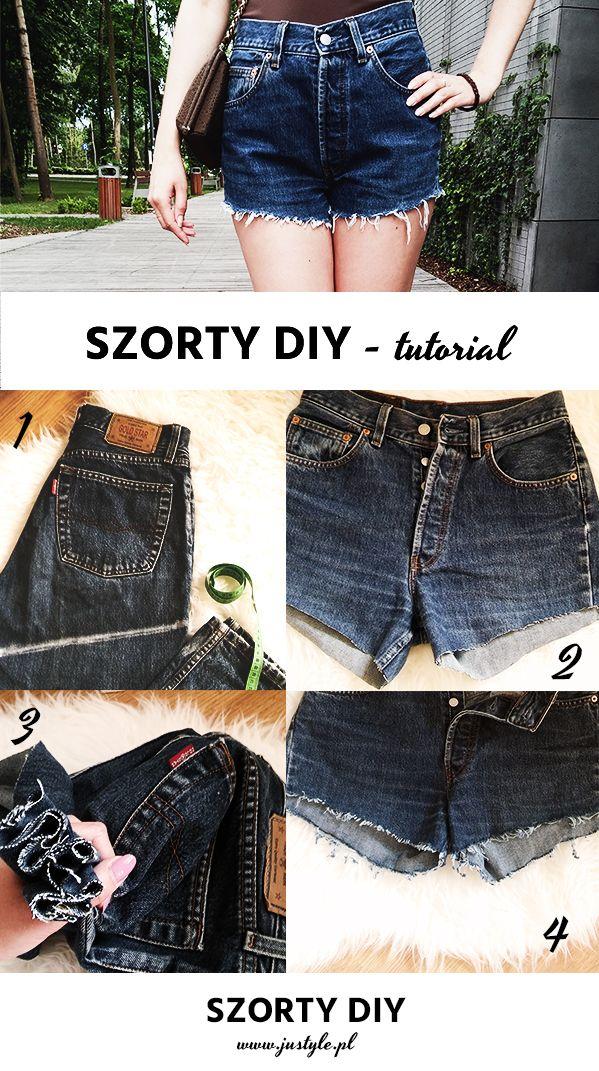 Jak zrobić modne szorty ze starych jeansów. DIY