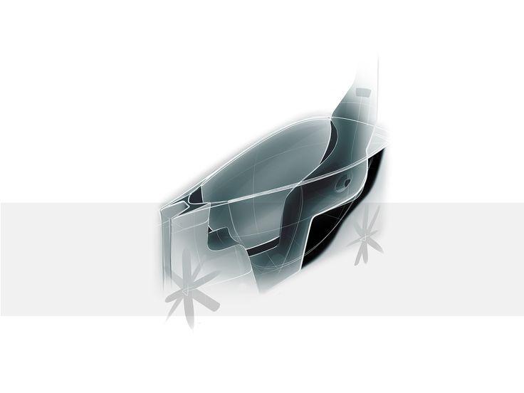 David Voltner - AFAD - City car - interior sketch