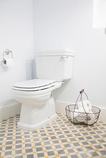 Baños con Baldosa hidraulica, Suelo hidraulico, Zelart ...
