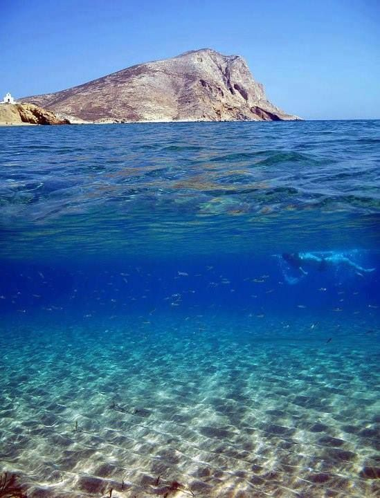 Agia Anna, Amorgos, Greece Amorgos is one of the most beautiful islands of the Cyclades, with a rich cultural heritage and wild scenery that impressed its visitors. The island is an ideal destination for trekking lovers as its most beautiful beaches are accessible on foot.