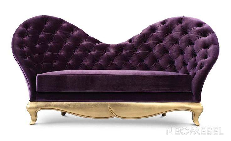 Нестандартный выбор Фиолетовый Диван