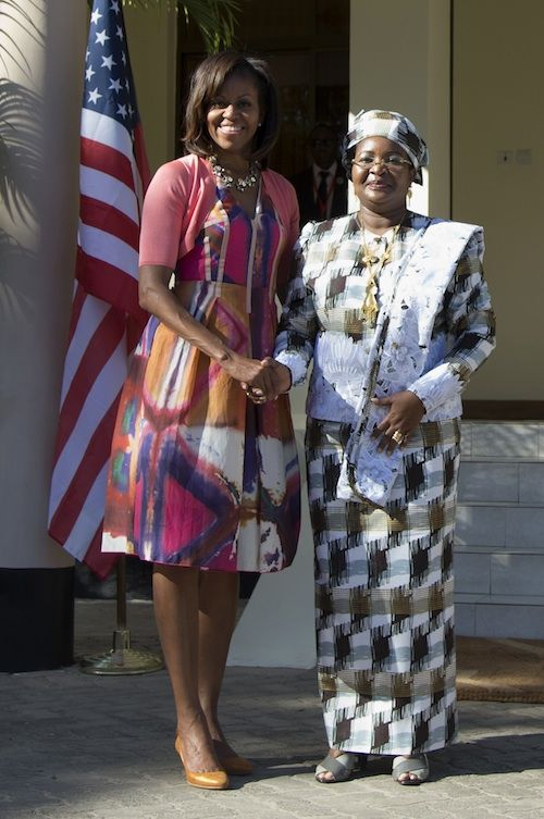 President and First Lady Obama arrived at the State House in Dar es Salaam, Tanzania today, ...