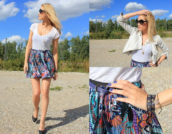 Last Days of Colour...  BY VICTORIA J./ LETTERS TO V., 27 YEAR OLD BLOGGER FROM MUNICH, GERMANY, GERMANY  http://lookbook.nu/look/2429699-Michael-Kors-Blue-Studded-Bracelet-Accessorize