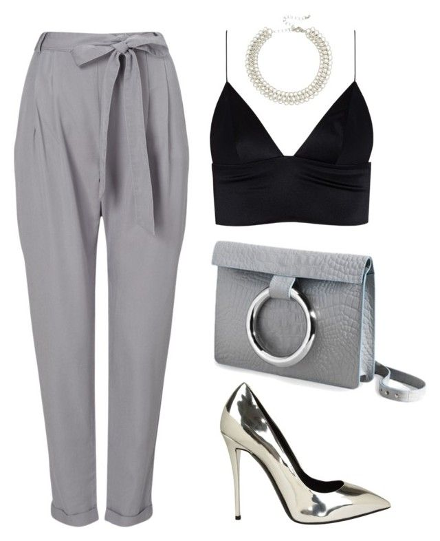 """""""Grey"""" by baludna ❤ liked on Polyvore featuring Phase Eight, Persephoni, Giuseppe Zanotti, Kenneth Jay Lane and T By Alexander Wang"""