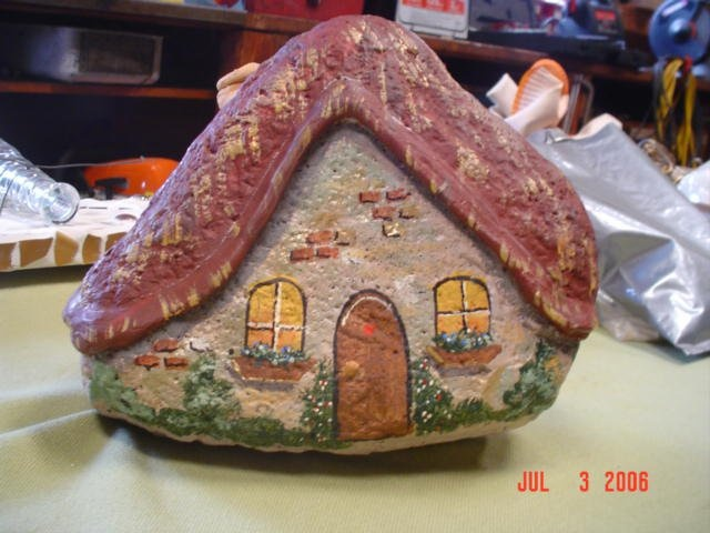 42 Best Painted Rocks Buildings And Houses Images On