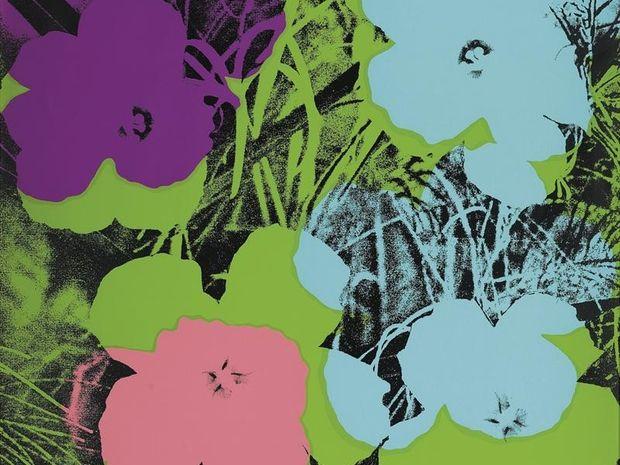 "SERIGRAFIA ""FLOWERS"", DE ANDY WARHOL (FOTO: EFE)"