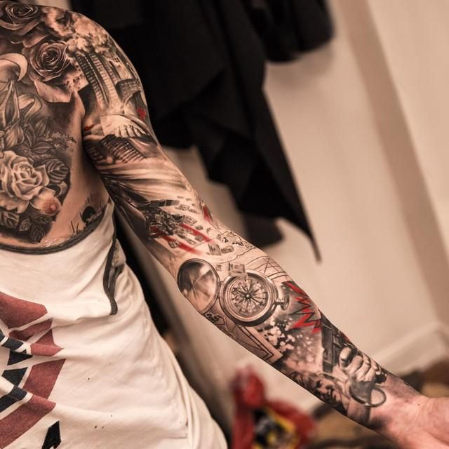 26 best death sleeve tattoos japanese images on pinterest. Black Bedroom Furniture Sets. Home Design Ideas