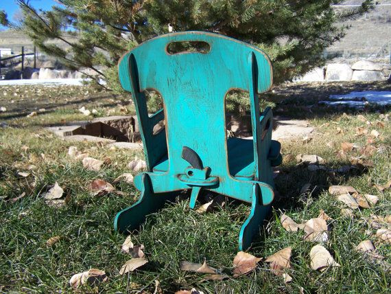 Puzzle Rocker-Rocking chair for kids. Rustic by WorkHorseFurniture