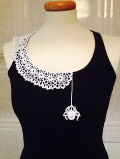 Spider web crochet collar - quirky and cool and completely unique. I love it!