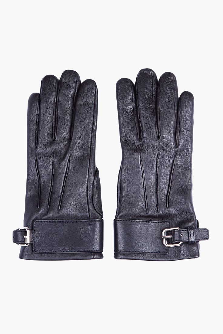 Mens leather gloves black friday - Black Leather Studded Wallet