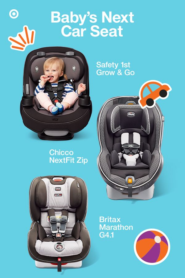 Coolest in car seats? Convertible car seats that are built to grow with your baby, while providing superior protection from their first ride. The Safety 1st Grow & Go has an advanced cushion system, QuickFit harness and 3-position recline. The Chicco NextFit Zip features a 9-position leveling system, SuperCinch LATCH tightener and Zip & Wash seat pad. The Britax Marathon G4.1 has a 10-position quick-adjust harness, 3-position recline and side-impact protection. Perfect for you and your babe.