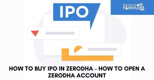 How To Buy Ipo In Zerodha Amazing Method To Buy Ipo In Zerodha In 2020 Power Of Attorney Form Initial Public Offering Stock Broker