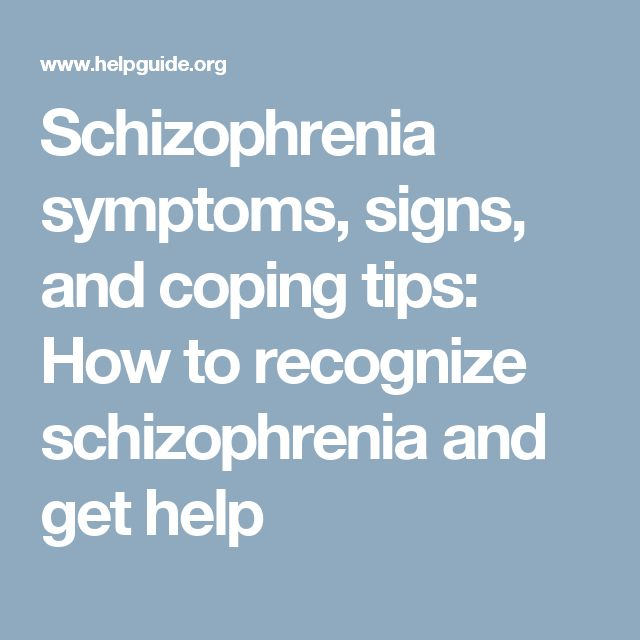 the early signs and symptoms of schizophrenia Schizophrenia has some early signs that may be detected in order for an  accurate diagnosis to be made if you want to know more about the symptoms.