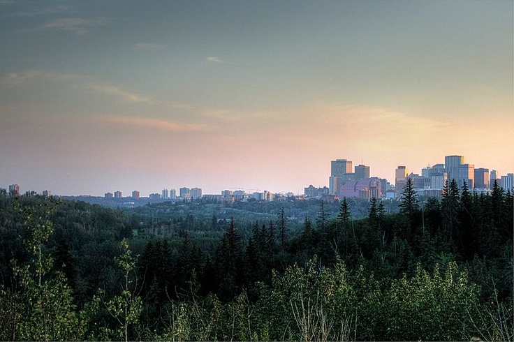 View from Highlands district in Edmonton, where Carol lived during the start of the correspondence