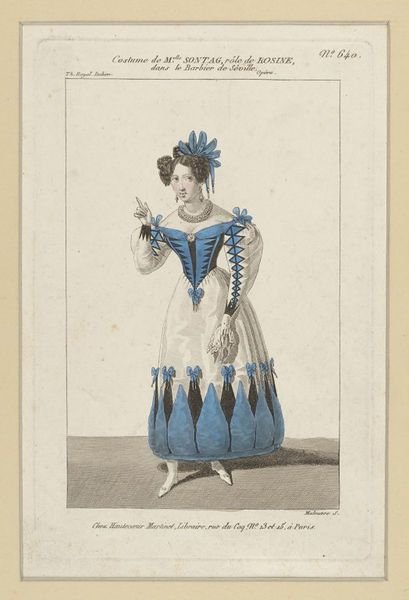 Henriette Sontag in The Barber of Seville, 19thC print by Maleuvre, V&A Collection: