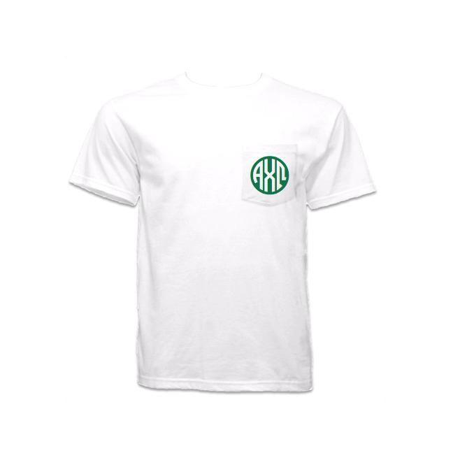Now available Alpha Chi Omega P... Shop http://manddsororitygifts.com/products/alpha-chi-omega-pocket-shirt-monogram?utm_campaign=social_autopilot&utm_source=pin&utm_medium=pin
