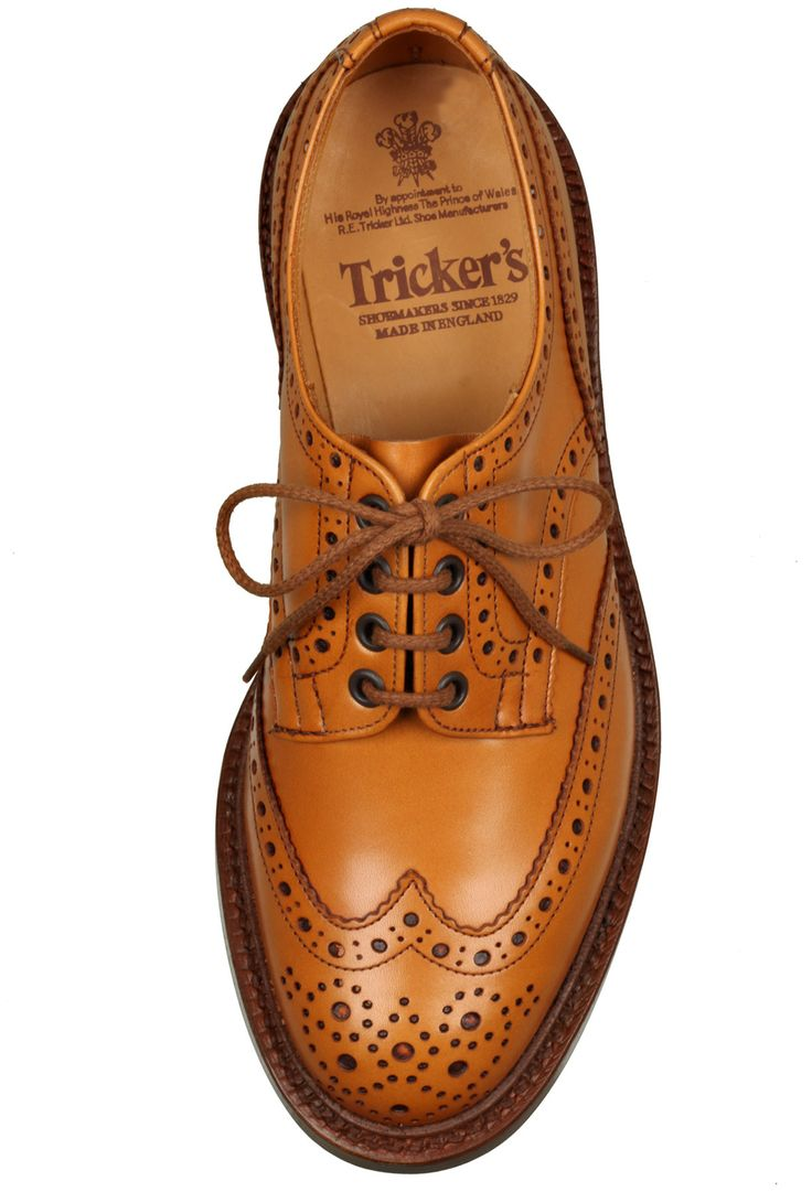 Tricker's Tan Brogue Wing Tip Shoe in Brown for Men (tan)