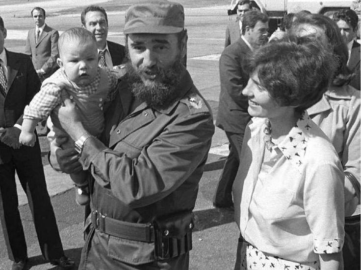 Fidel Castro was immediately taken with four-month-old Michel when he arrived…