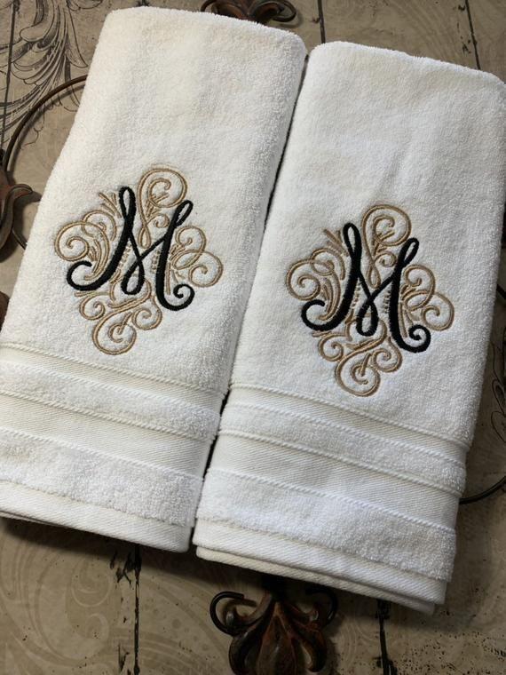 Bath Towel Room Essentials Bath Towels Luxury Monogram Towels House Warming Gifts