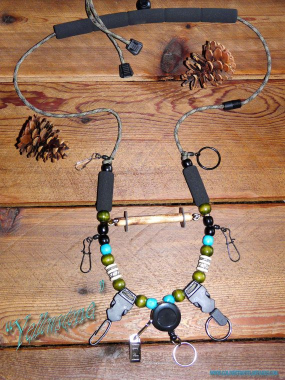 Fly Fishing Lanyard Yellowstone by Golden by GoldenTroutLanyards, $31.95