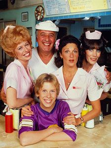Alice - (1976-1985). Starring: Linda Lavin, Vic Tayback, Beth Howland, Philip McKeon, Polly Holliday, Diane Ladd, Celia Weston, Charles Levin, Dave Madden, Martin Kaplan, Martha Raye and Doris Roberts. Partial Guest List: Eve Arden, Desi Arnaz, Fred Berry, Joan Blondell, George Burns, Ruth Buzzi, Robert Goulet, Eileen Heckart, Florence Henderson, Jay Leno, Nancy McKeon, Frank Nelson, Donald O'Conner, Jerry Reed, Debbie Reynolds, Telly Savalas, and Jerry Stiller.