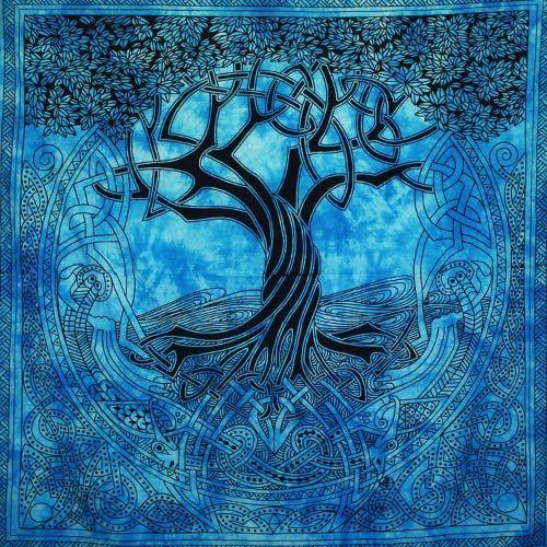 Tenture Arbre de Vie Celte (Bleu) GF