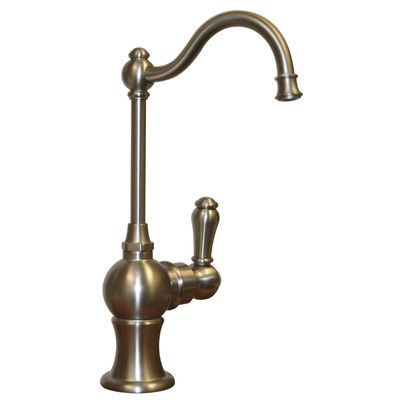 "Whitehaus Collection Forever Hot 7"" One Handle Single Hole Hot Water Dispenser Faucet with Traditional Spout Finish:"
