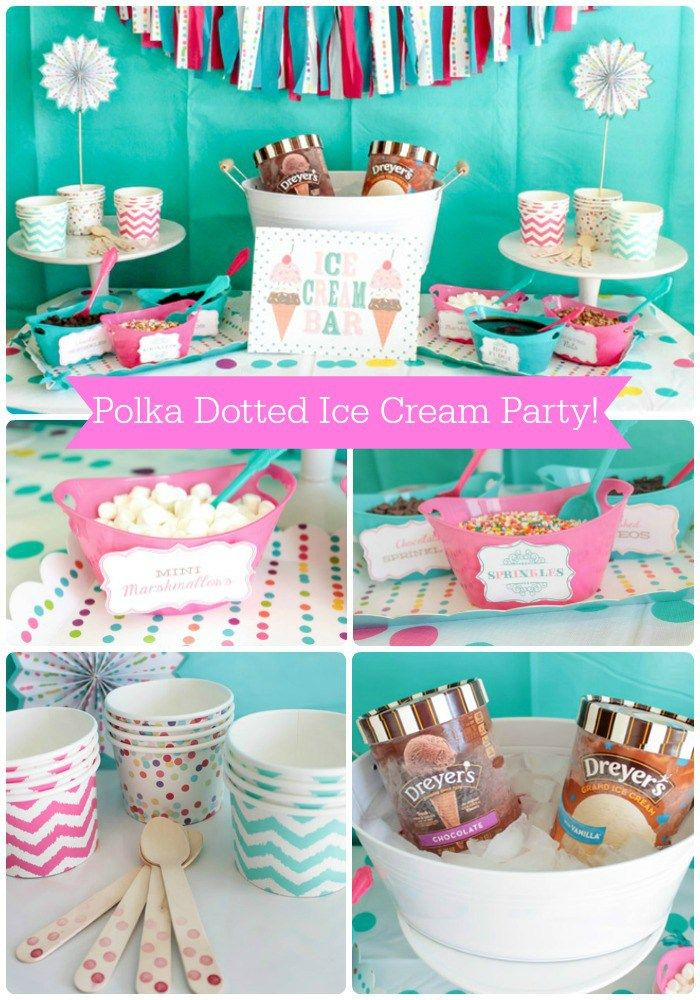 Polka Dotted Ice Cream Party Perfect For Summer