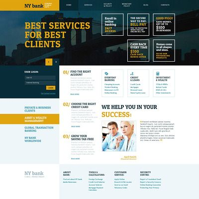 Mejores 9 imágenes de Banking en Pinterest | Diseño web, Plantilla ...