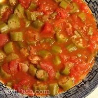 Smothered Okra With Bacon And Tomatoes Recipe