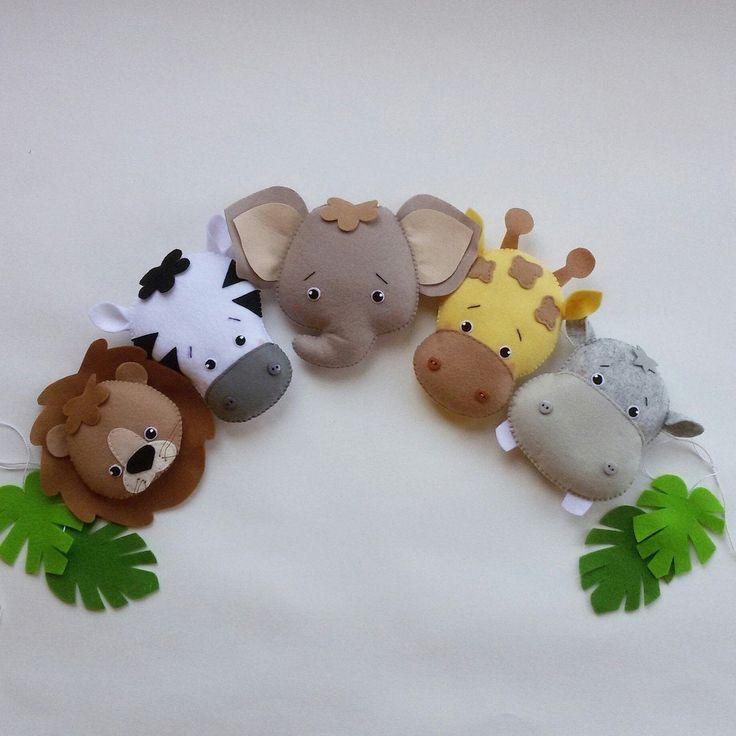Safari Nursery Decor, Baby Boy Nursery, Felt Nursery ...
