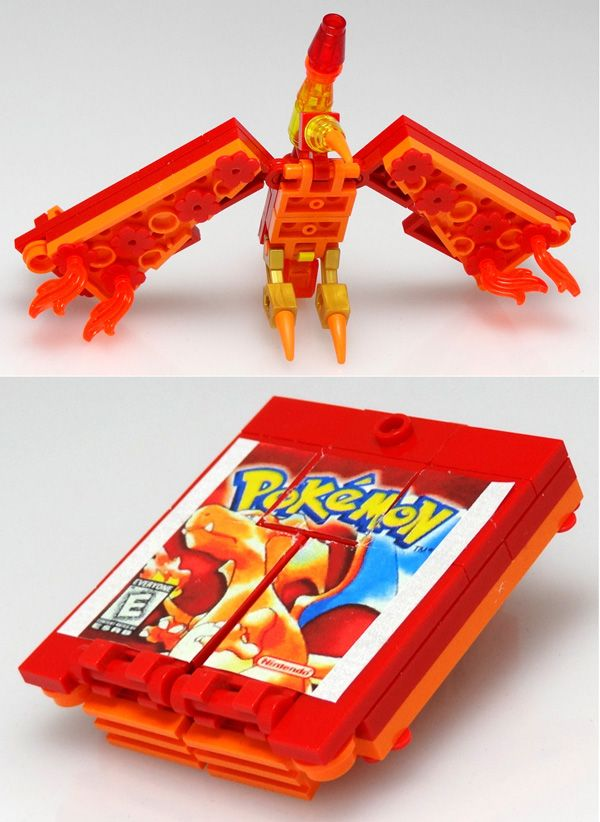 "#LEGO #Pokemon Game cartridge by ""Baron"" Julius von Brunk"