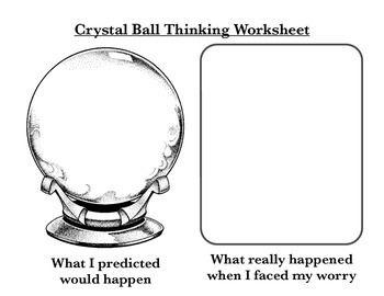 Crystal Ball Thinking CBT Worksheet