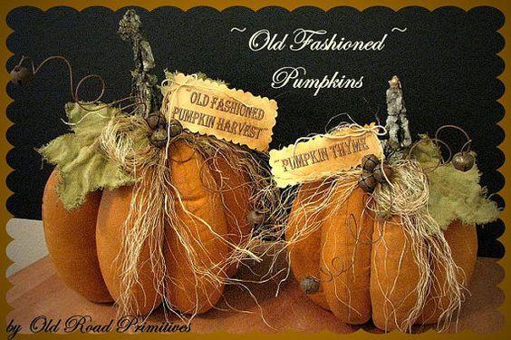 Primitive Pumpkins Pattern Old Fashioned by OldRoadPrimitives