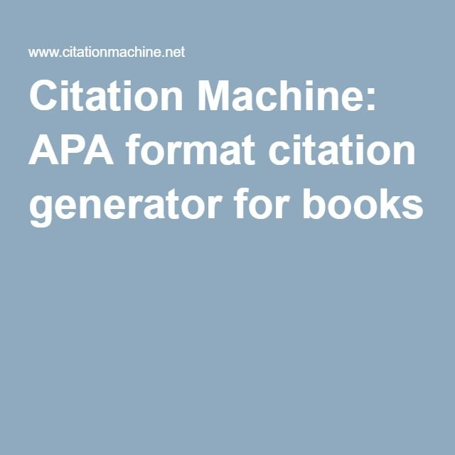 free mla citation machine