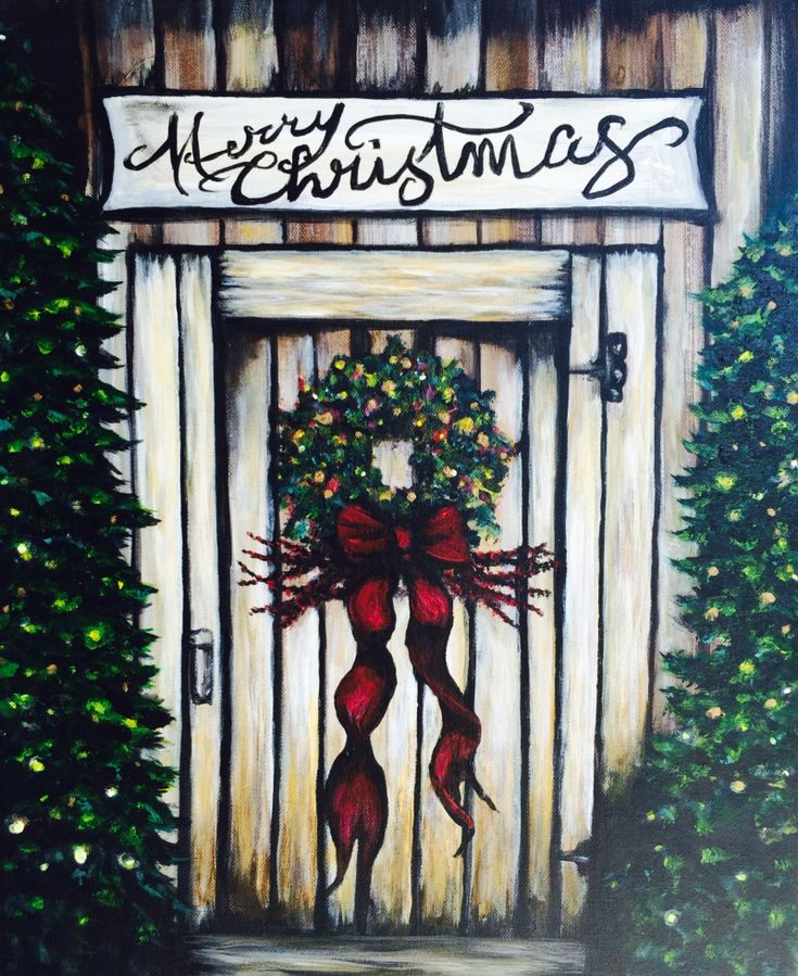 I am going to paint A Simply Charming Christmas at Pinot's Palette - Chesterfield to discover my inner artist!