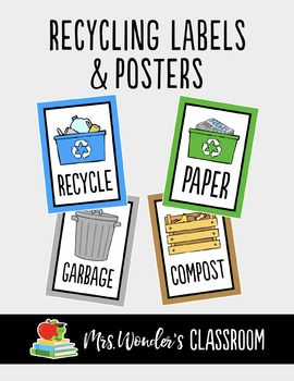 Go green! This makes a great Earth Day activity to have each classroom in your school label their waste and put up reminder posters. Or it makes a great Eco Team project or initiative. Adding recycling labels helps the students learn how to reduce, reuse and recycle by teaching them how to sort their