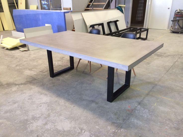 Polished Concrete Table By Mitchell Bink Concrete Design.  Www.mbconcretedesign.com.au
