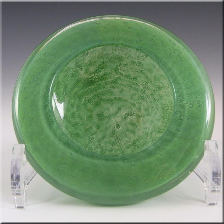 Stevens + Williams or Nazeing Clouded Green Glass Bowl - £26.99