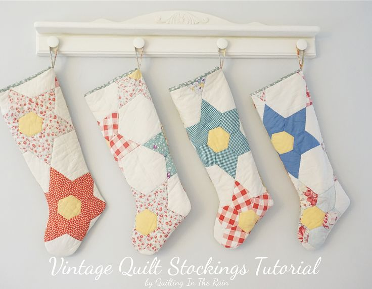 """425 Likes, 15 Comments - Jera Brandvig (@quiltingintherain) on Instagram: """"Hi all! This is a late post, but I wanted to let you know the vintage quilt stocking video tutorial…"""""""
